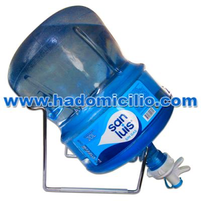 Soporte + Válvula + Bidón de agua San Luis 20 litros