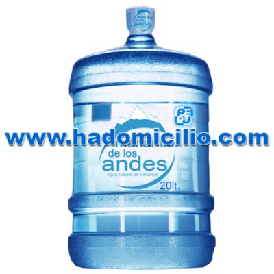 Bidón de agua mineral Manantial de los Andes 20 litros retornable