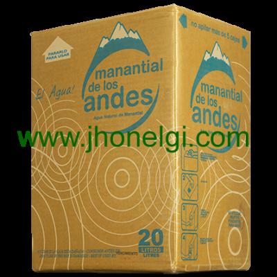 Agua mineral Manantial de los Andes 20 litros en caja