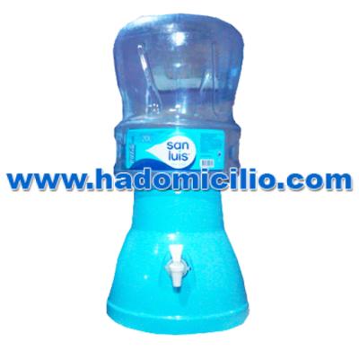 Dispensador de agua celeste + Envase + Agua de mesa San Luis 20 lt