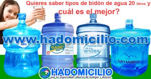 ¿Tipos de Bidón de agua 20 litros y cuál es el mejor agua?