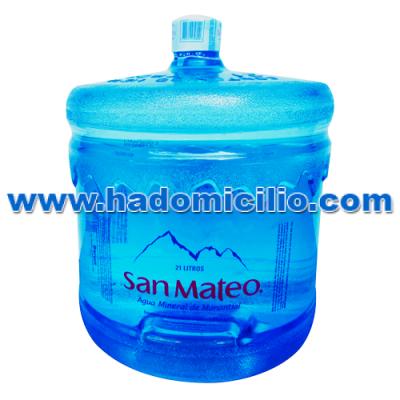 Bidon de agua mineral manantial San Mateo 21 litros retornable