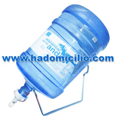 Dispensador de agua(Soporte + valvula) + Envase + Bidon de agua Manantial de los Andes 20 lt.