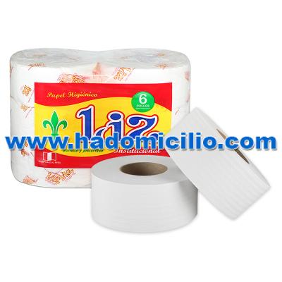 Papel Higienico Liz gofrado blanco 200 mts x 6 rollos