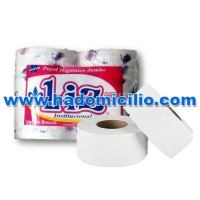 Papel Higienico Liz liso blanco 400 mts x 6 rollos