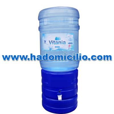 Bidon de agua ozonizada Vitania 20 lt + dispensador de agua azul
